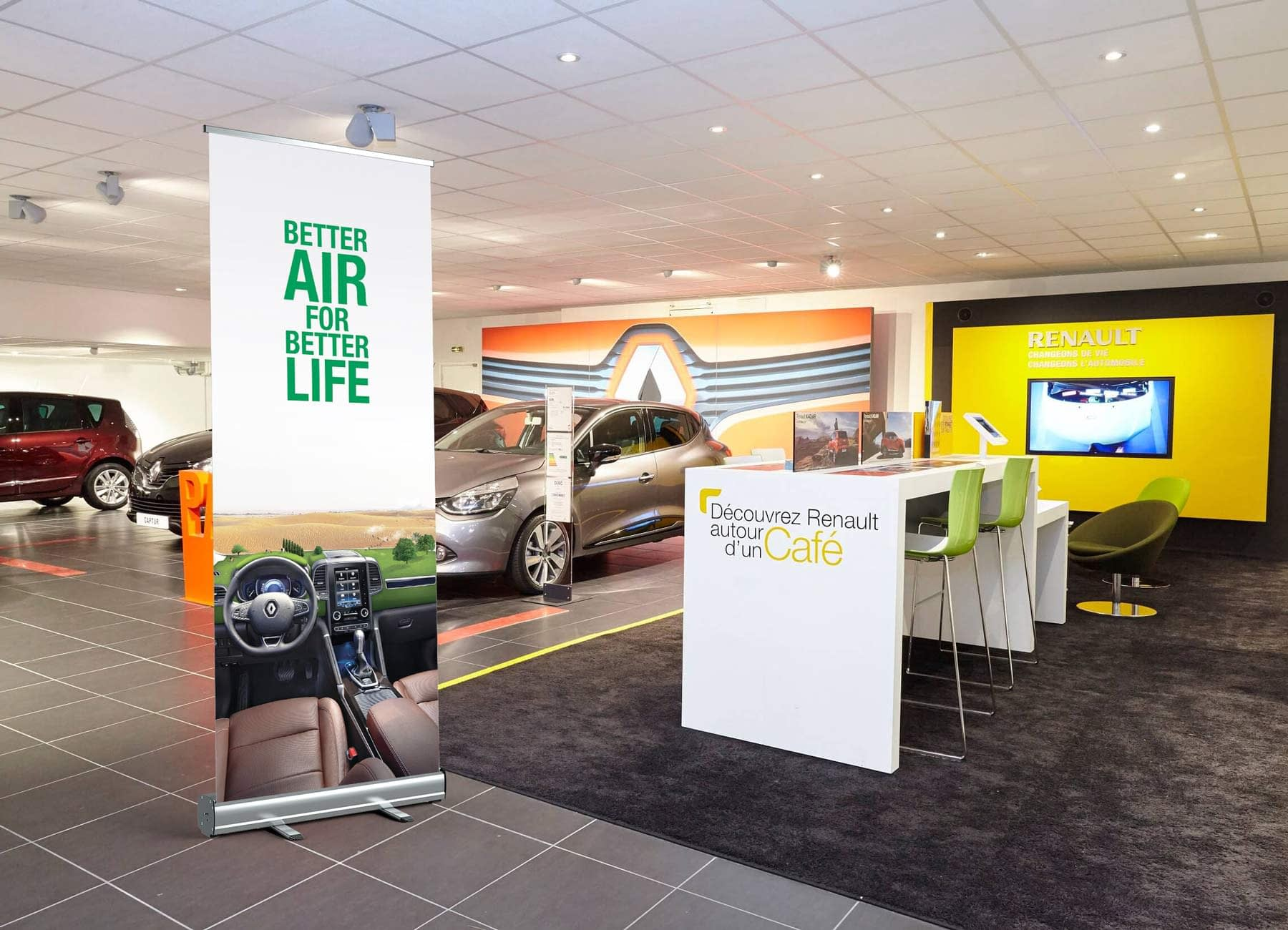 showroom renault rollup